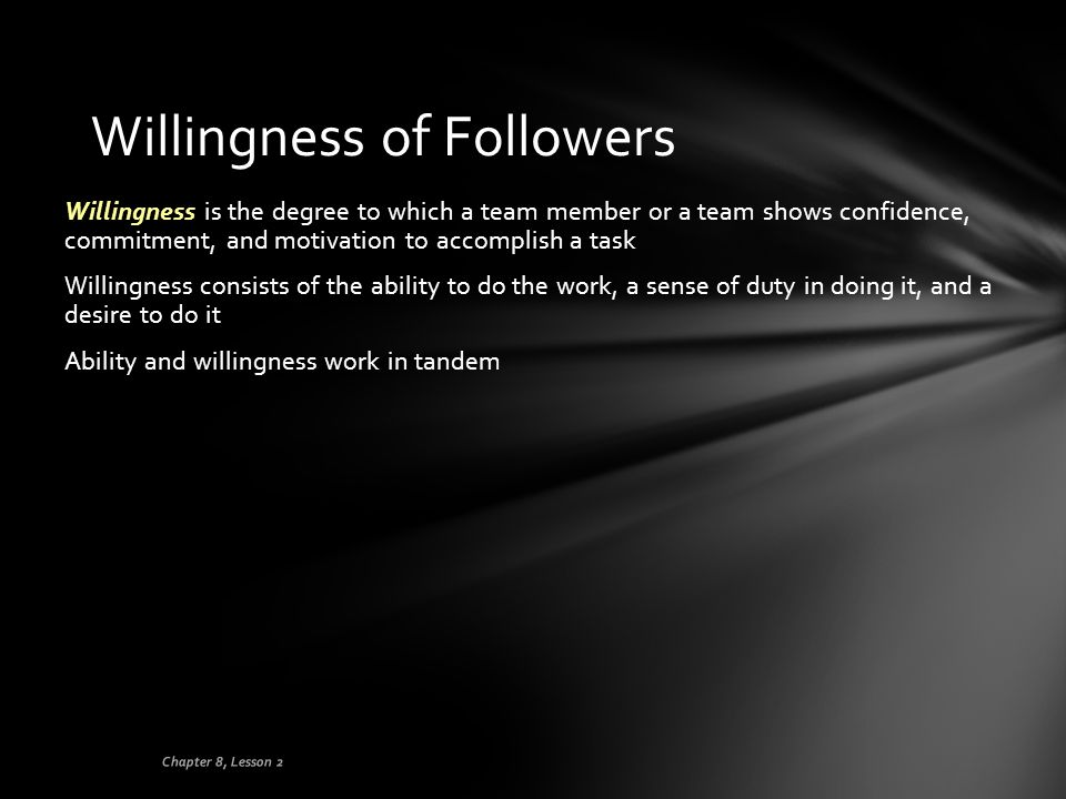 Willingness of Followers
