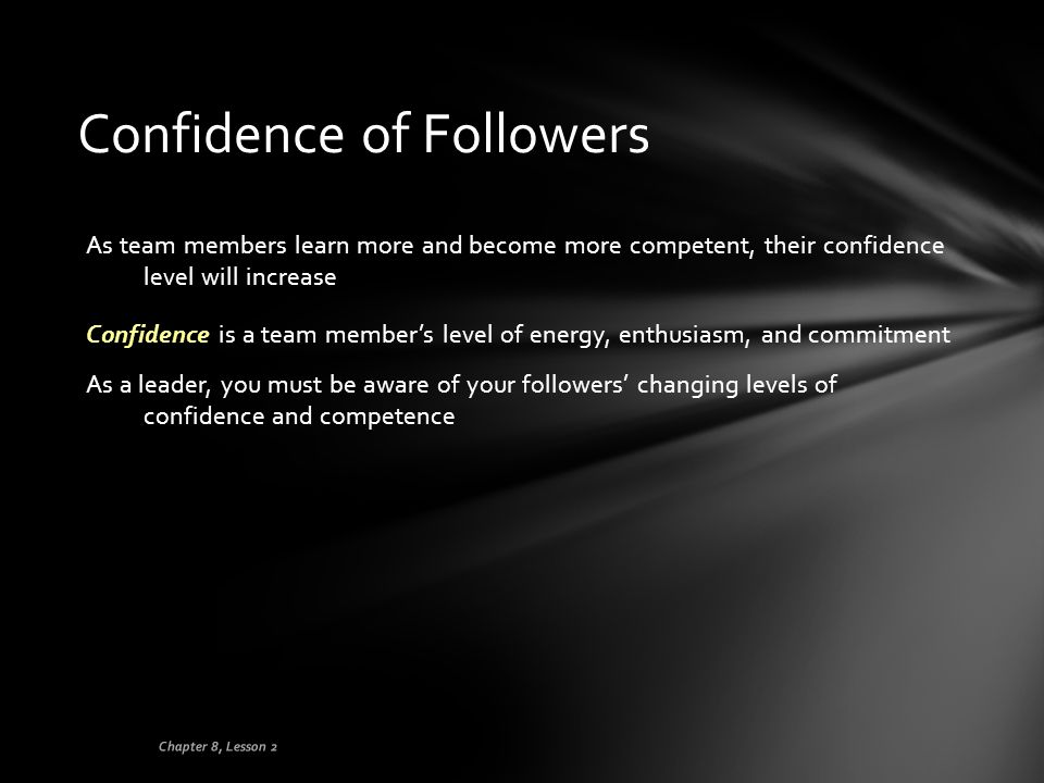 Confidence of Followers