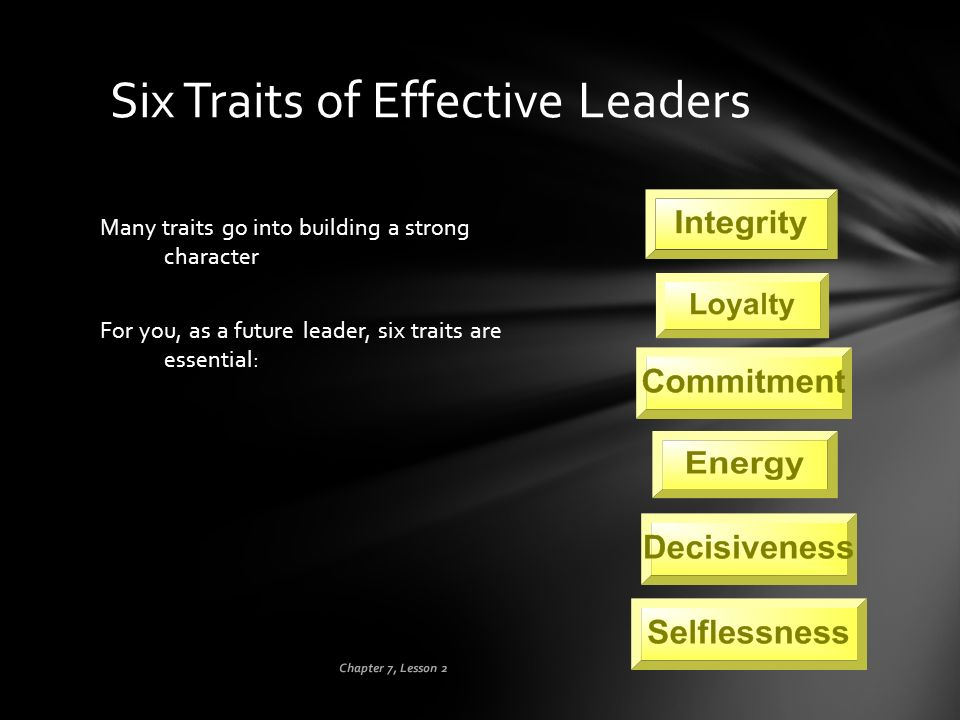 Six Traits of Effective Leaders