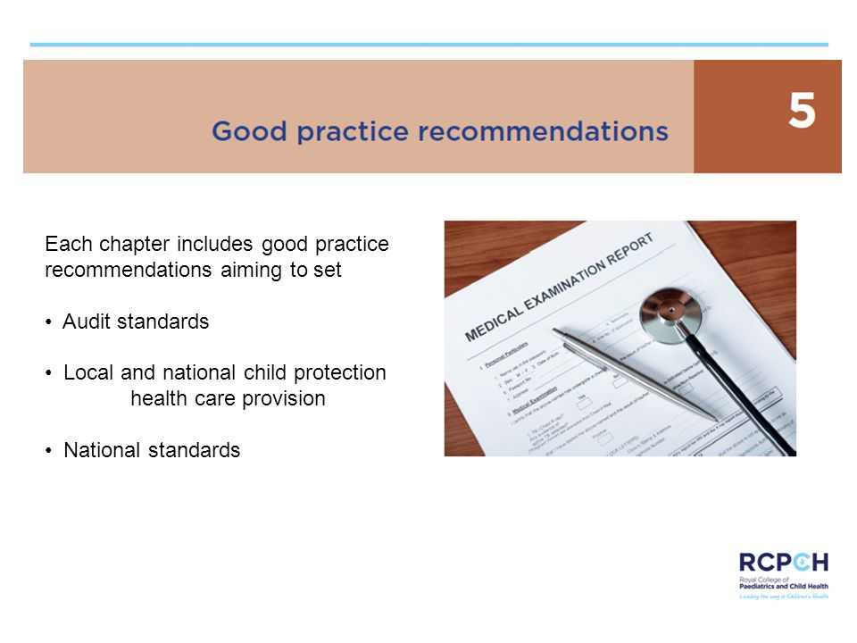 Each chapter includes good practice recommendations aiming to set