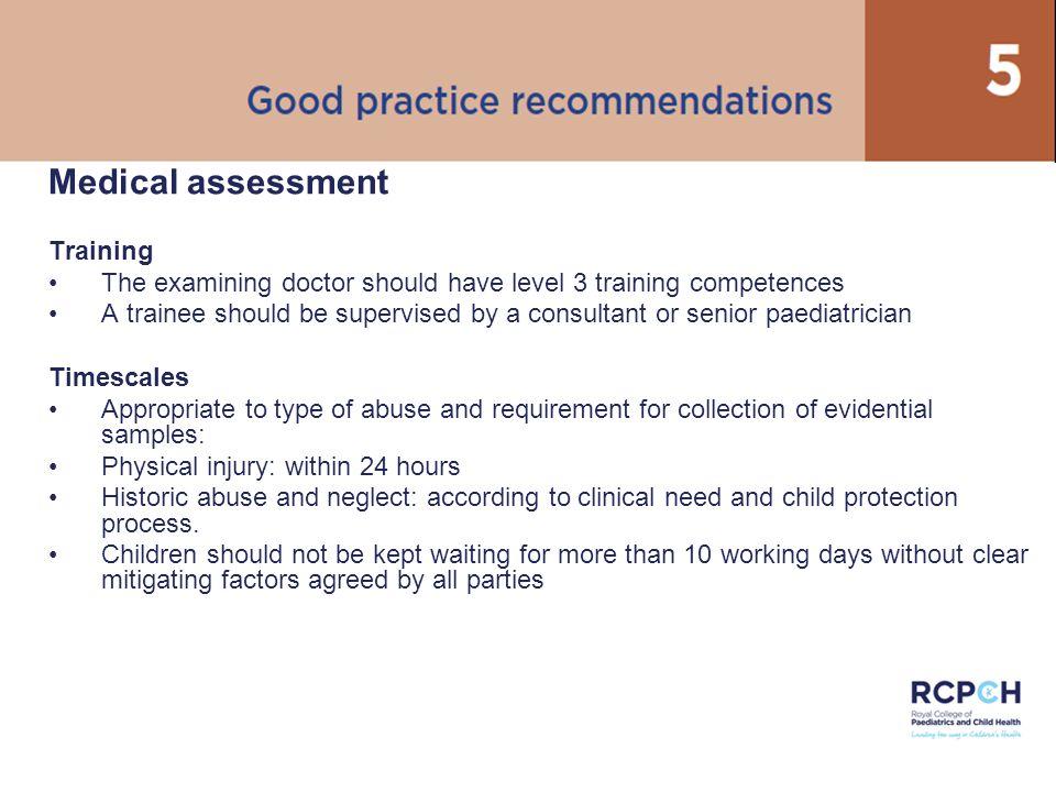 Medical assessment Training