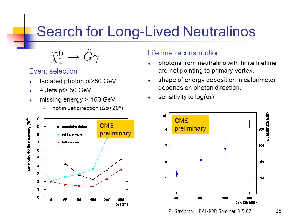 Search for Long-Lived Neutralinos