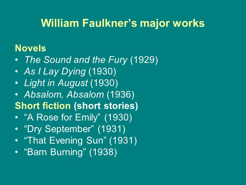 major themes faulkners light august Faulkner's distorted crucifix: wood imagery in light in arranged his events and directed his themes to parallel the 21 chapters faulkner's light in august.