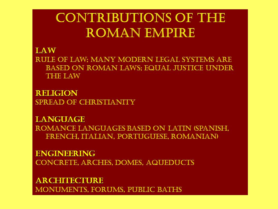 contributions of greek and roman civilization As the greek empire began to spread its sphere of but they soon started to make important contributions in their own but most of greek mathematics was based.