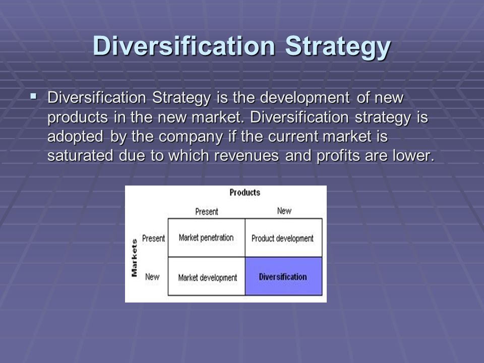 Market diversification strategy meaning