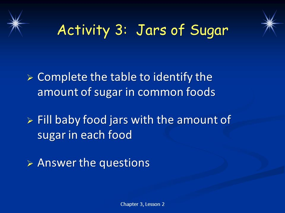 Activity 3: Jars of Sugar