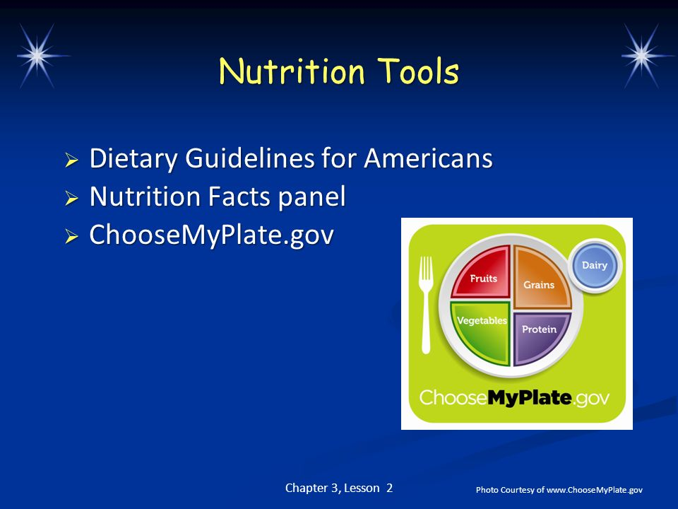 Nutrition Tools Dietary Guidelines for Americans Nutrition Facts panel