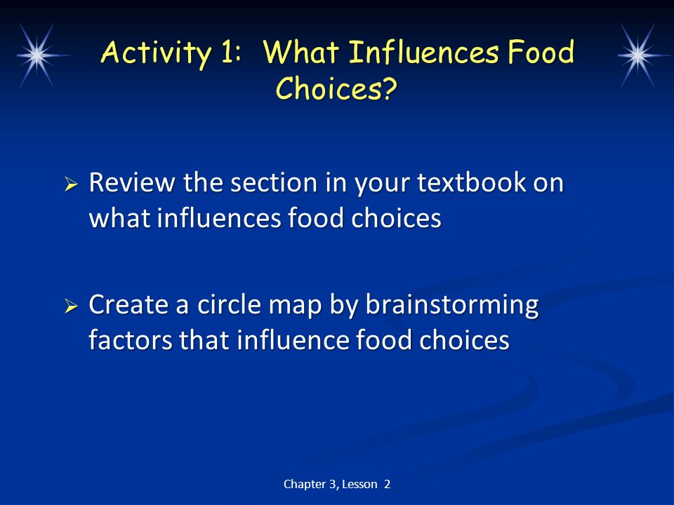 Activity 1: What Influences Food Choices