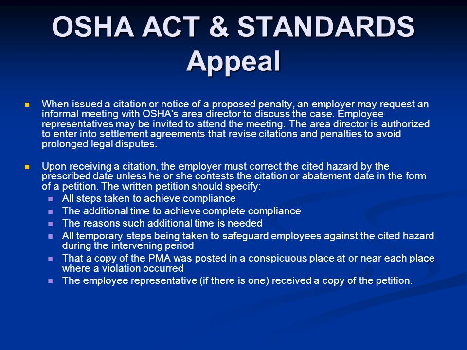 osha act Laws of malaysia act 514 occupational safety and health act 1994 date of royal assent: 15 february 1994 date of publication in the gazette: 24 february 1994.