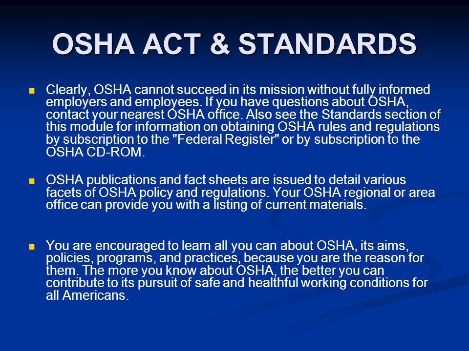 osha rules and regulations Laws and rules  title 29 cfr 1908 consultation agreements title 29 cfr  1910 general industry regulations title 29 cfr 1926 construction regulations .