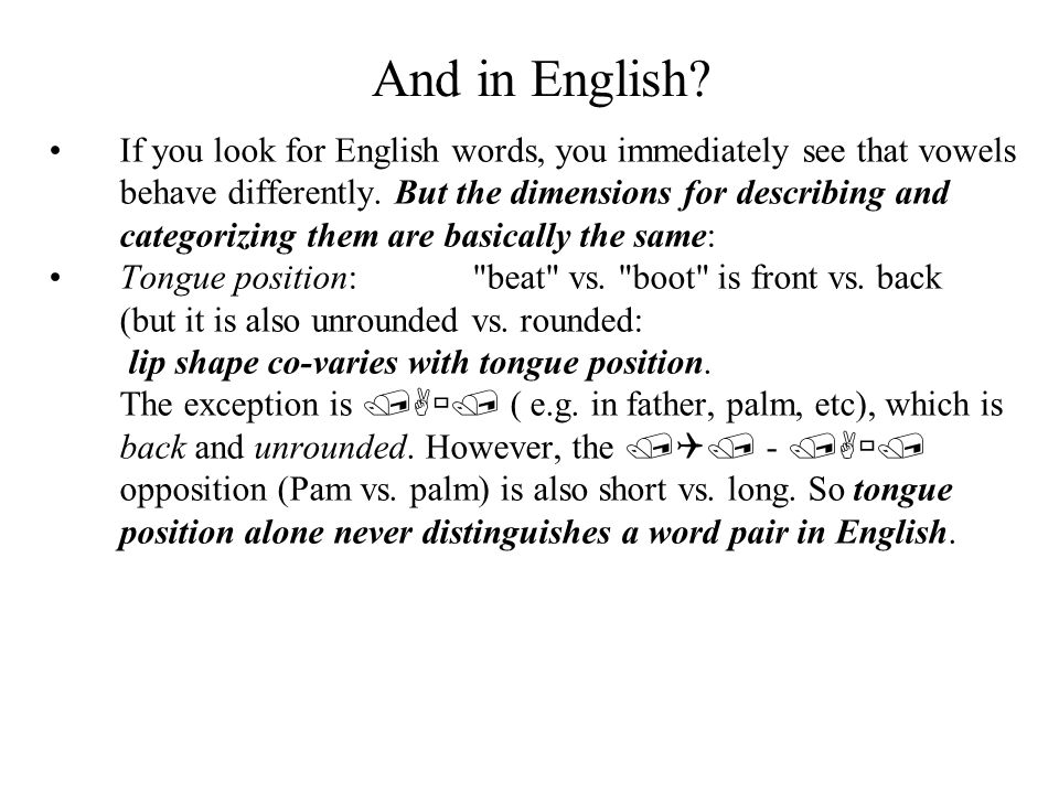 And in English