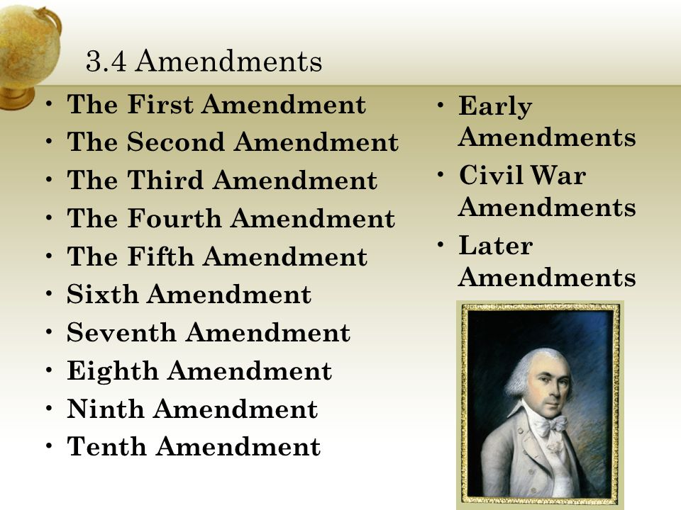 fourth fifth sixth and fourteenth amendments Amendments 3, 4, & 5 of the us constitution form a natural set these  amendments form a very clear joint statement of the importance the framers set  on the.