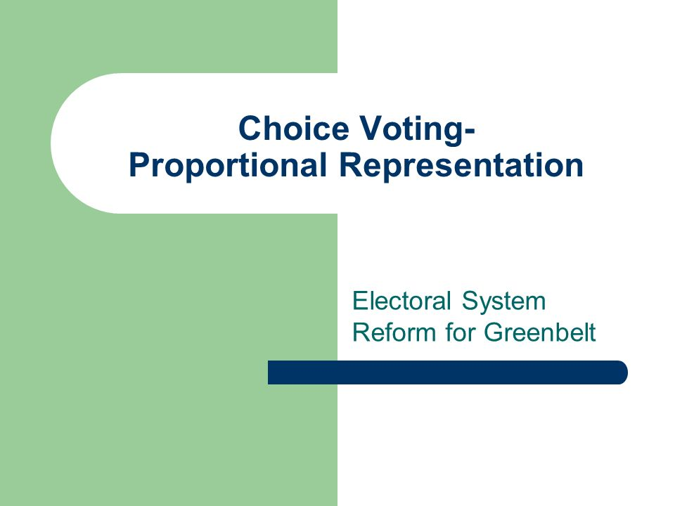 an analysis of a vote a plea for proportional representation Fairvote produces a booklet describing how fair representation voting can remedy vote dilution analysis of a hypothetical bay proportional representation is.