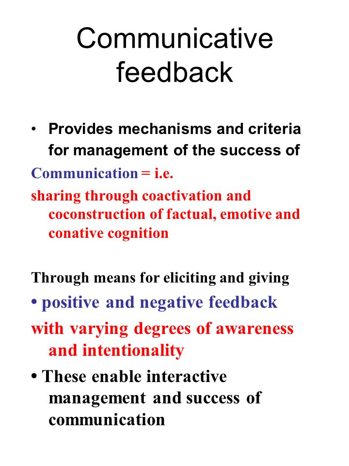 Communicative feedback
