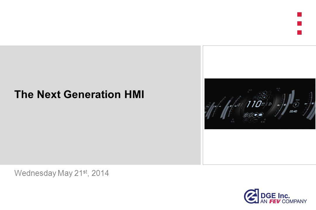 The Next Generation HMI