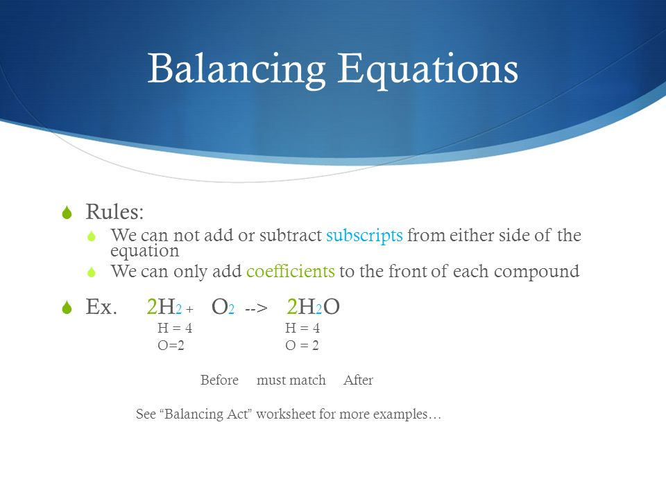 Chemistry Unit Notes 7th Grade Science ppt download – Balancing Act Worksheet