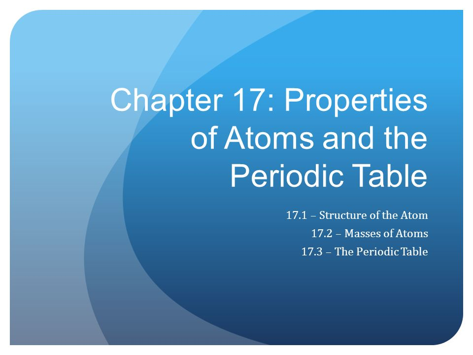 periodic properties of atoms This activity provides students the opportunity to explore patterns in the periodic table students have options to display graphs of elements according to their atomic numbers and properties including: molar mass, atomic radius, ionic radius, melting point, boiling point, electronegativity, and ionization energies.
