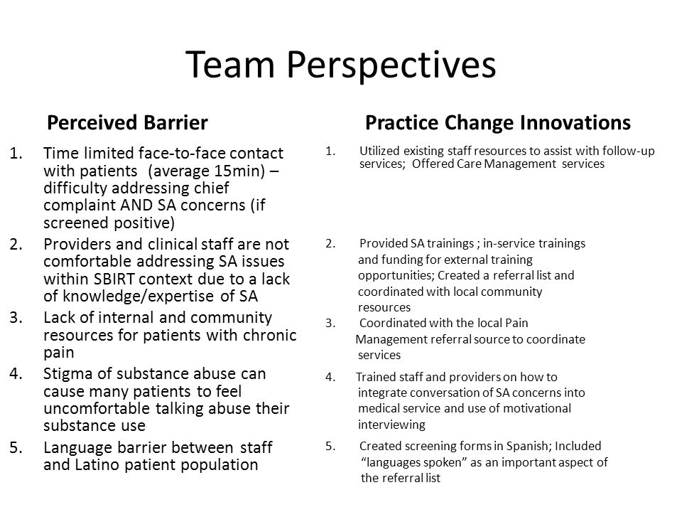 SBIRT Protocol in Primary Care Settings: An Integrated Care Design ...