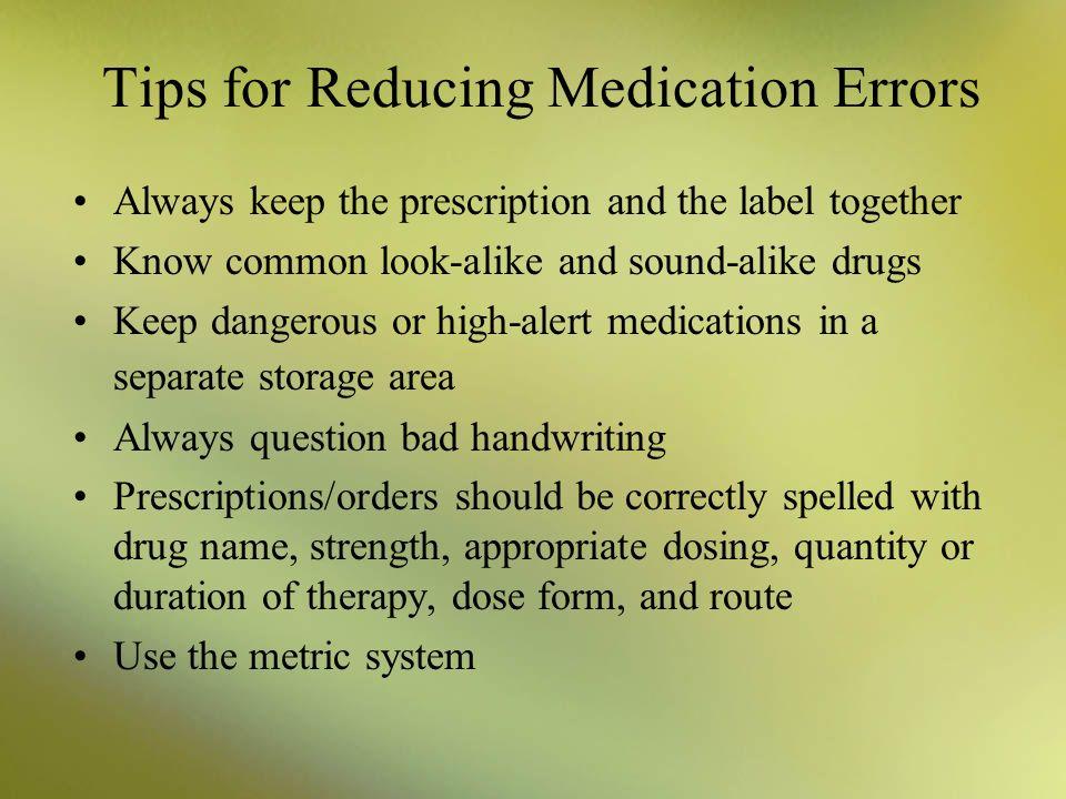 Chapter 6 Medication Safety Ppt Video Online Download
