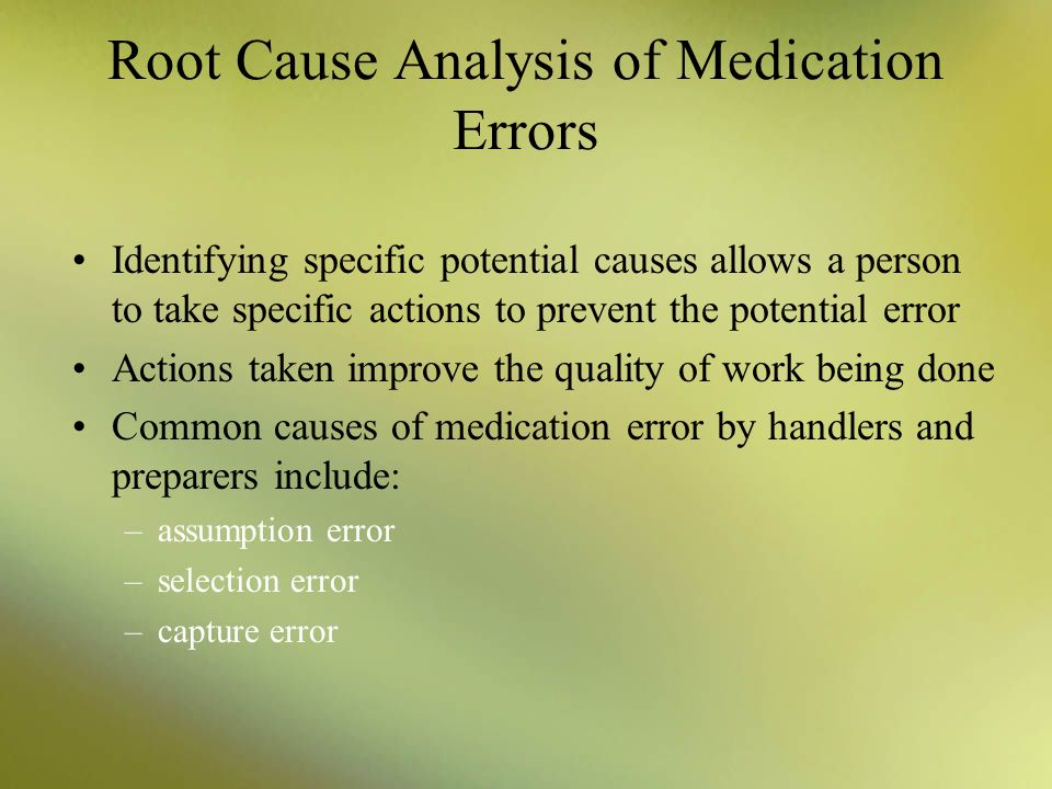 study on medication errors causes and prevention On mar 1, 2002 jonathan allard (and others) published: medication errors: causes, prevention and reduction.