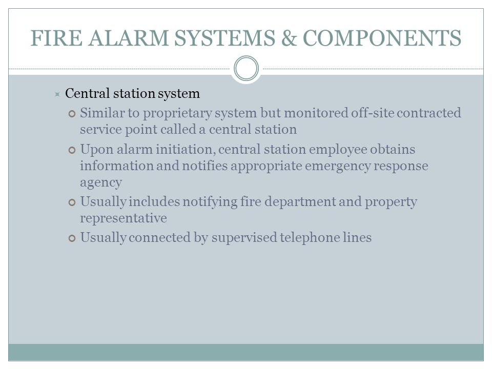 Fire Detection Alarm And Suppression Systems Ppt Download