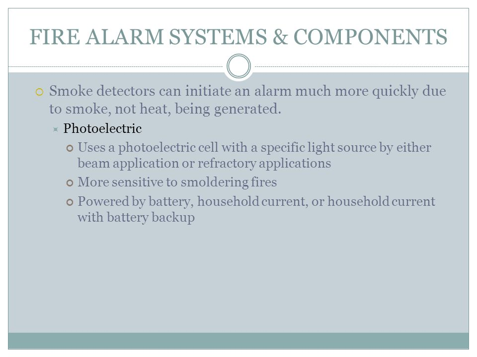 Fire Detection, Alarm and Suppression Systems - ppt download