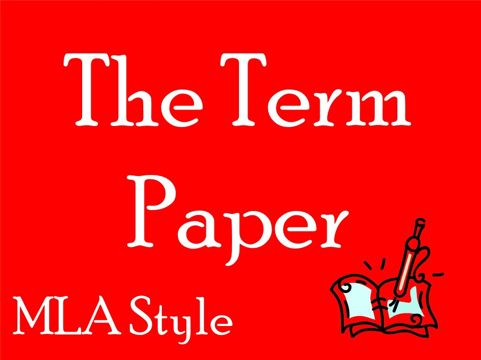 Mla style term paper