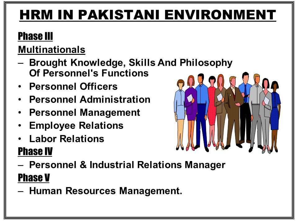 HRM IN PAKISTANI ENVIRONMENT