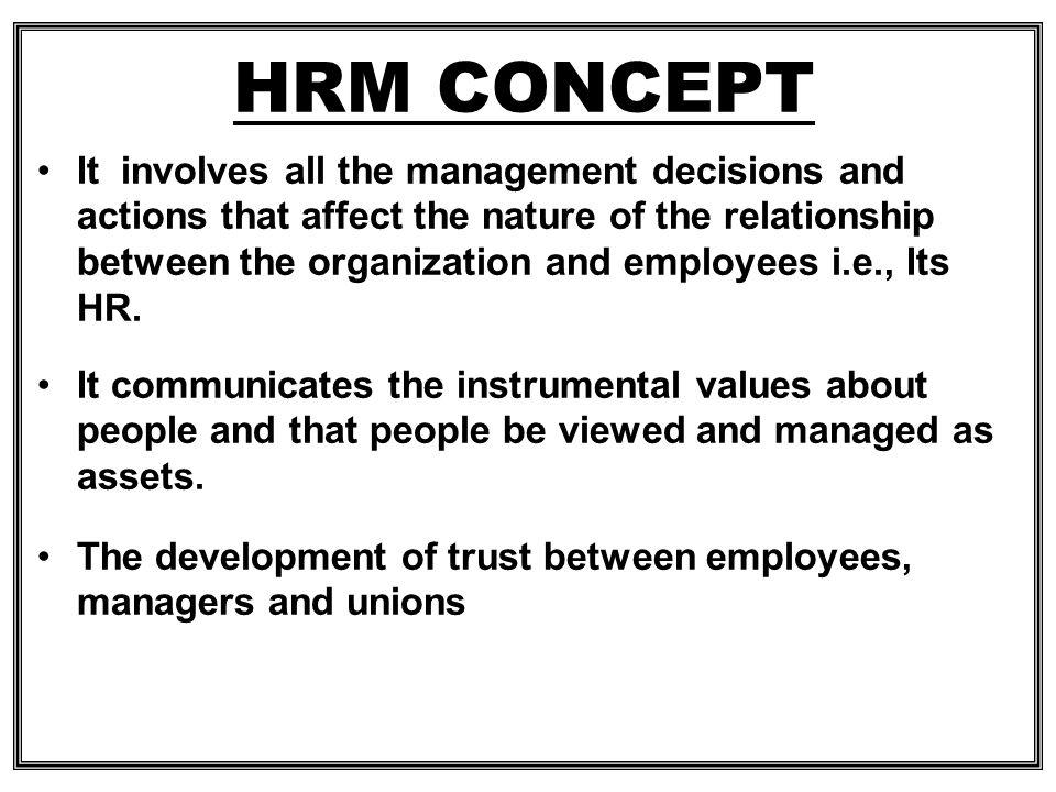 HRM CONCEPT