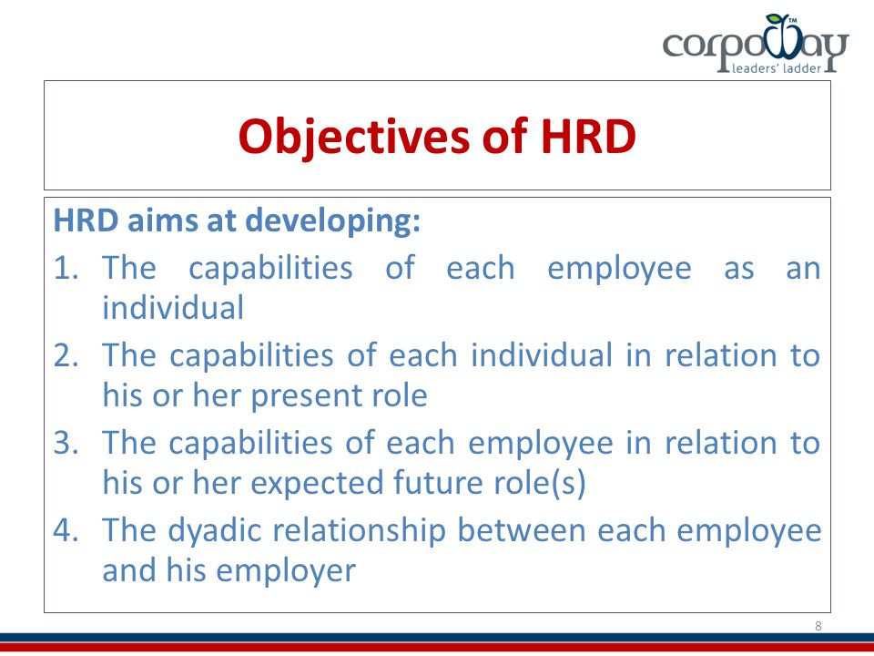 hrd in development Human resource development in india has got strengthened with the companies  investing their time to analyse the employees' fitments for the different job.