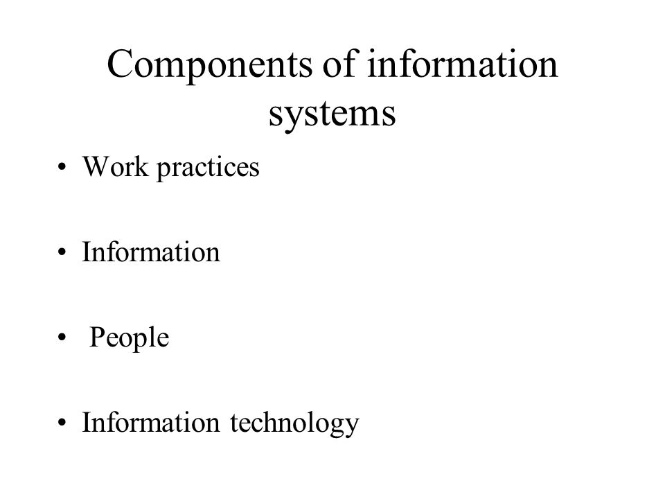 What are the components of information technology architecture?