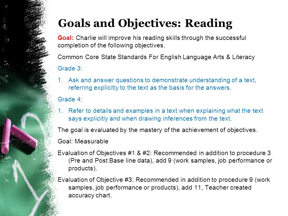 how to determine work goals and objectives