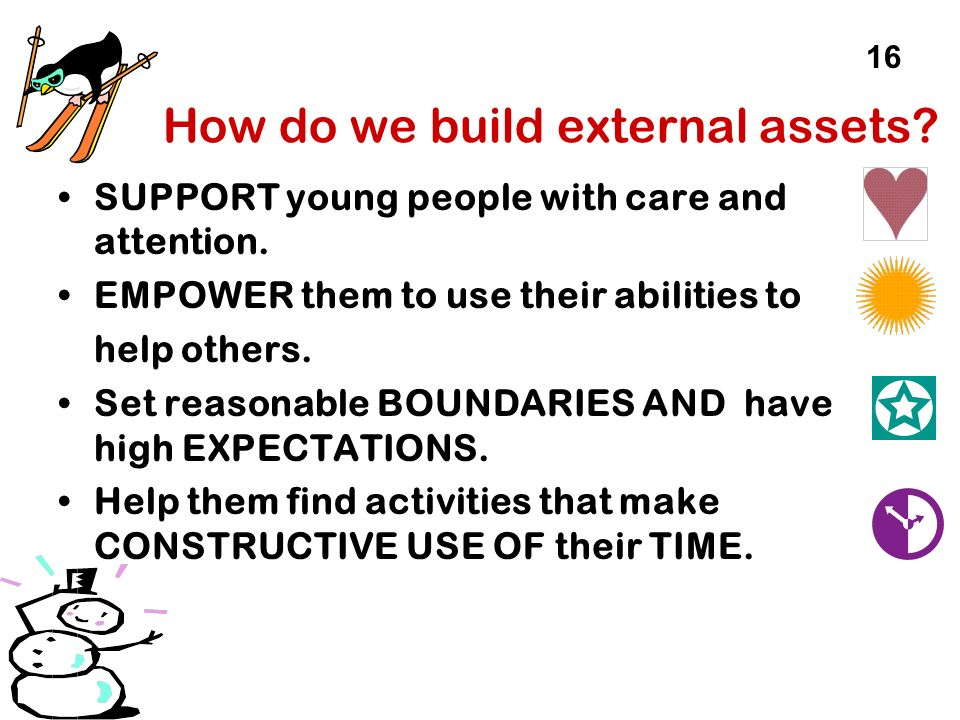 How do we build external assets