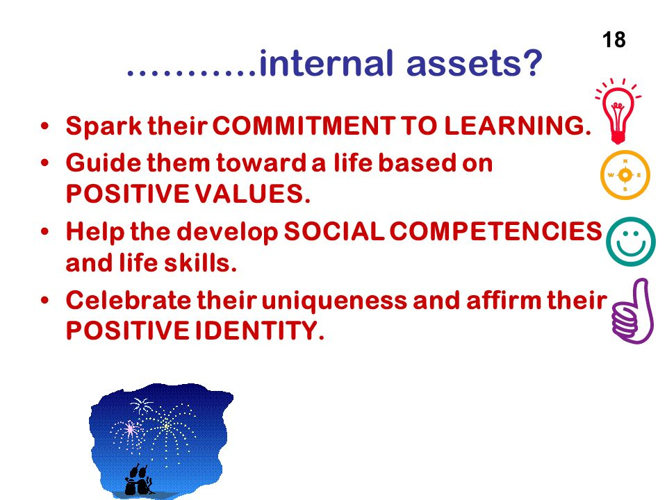 ………..internal assets Spark their COMMITMENT TO LEARNING.