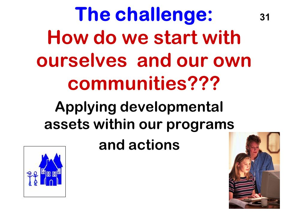 Applying developmental assets within our programs and actions