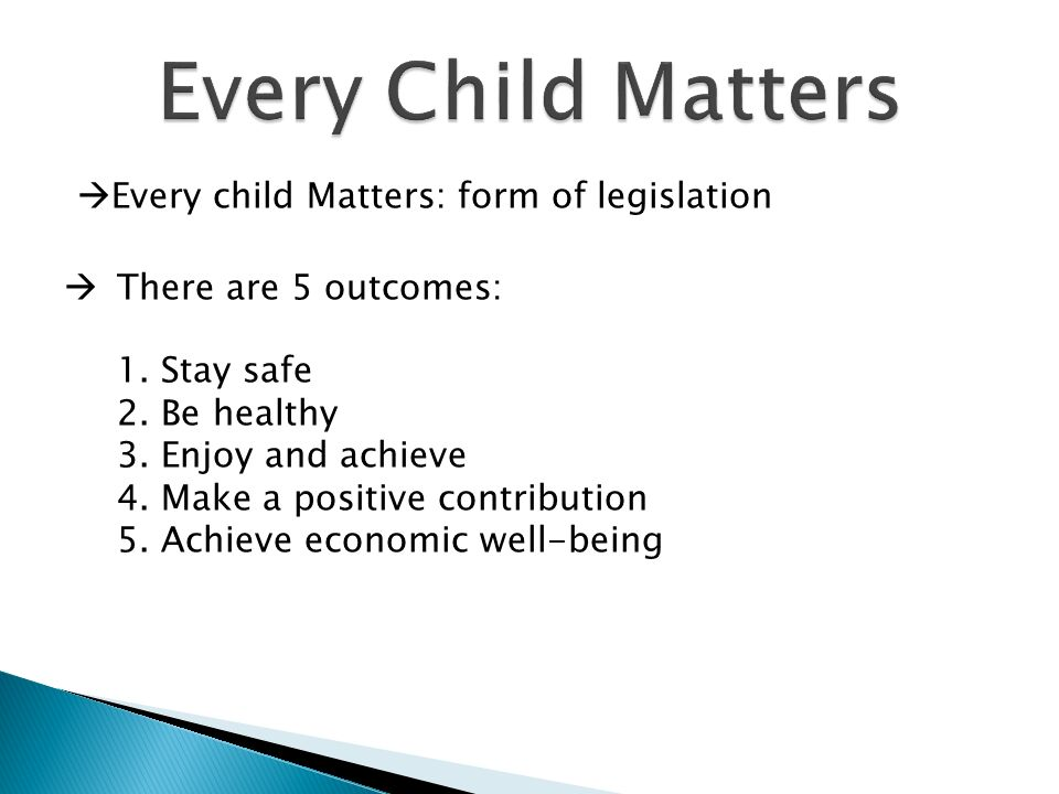 how to meet the every child matters outcomes