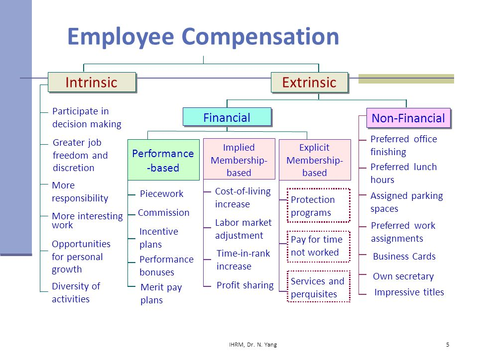 intrinsic and extrinsic compensation Employees in many companies have come to expect bonuses, special gifts or awards for a job well done while these extrinsic rewards may motivate some workers, they only have the ability to reward a limited number of workers at a time intrinsic rewards do not depend on bonuses or special awards and.