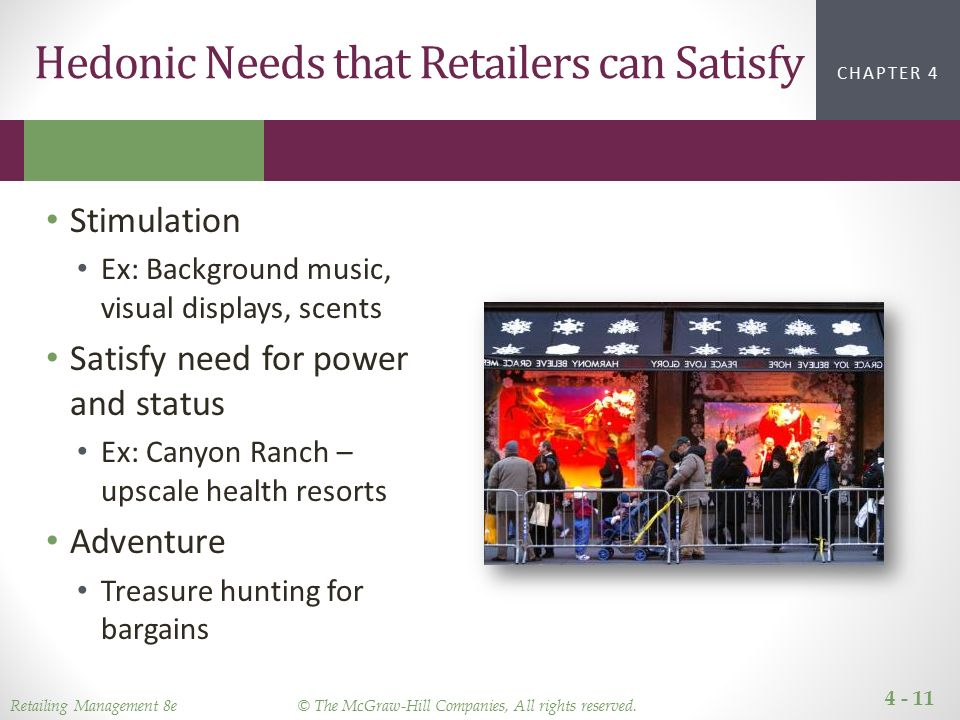 utilitarian and hedonic needs Differentiating between utilitarian and hedonic value, either from a general   finer segmentation of consumer's needs and desires: store brands.