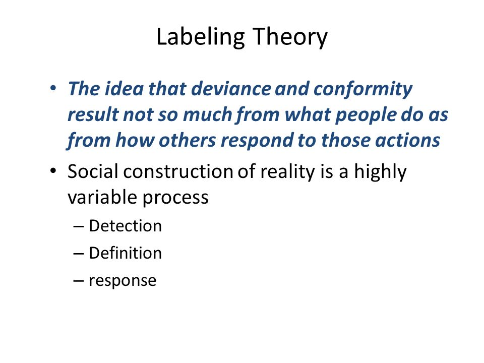 deviance theory analysis Sociological viewpoints on deviance and social  are directed at a micro level of analysis macro-level theories of deviant behavior are based on .