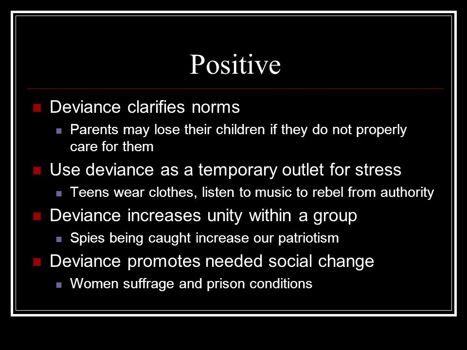 Positive Deviance clarifies norms