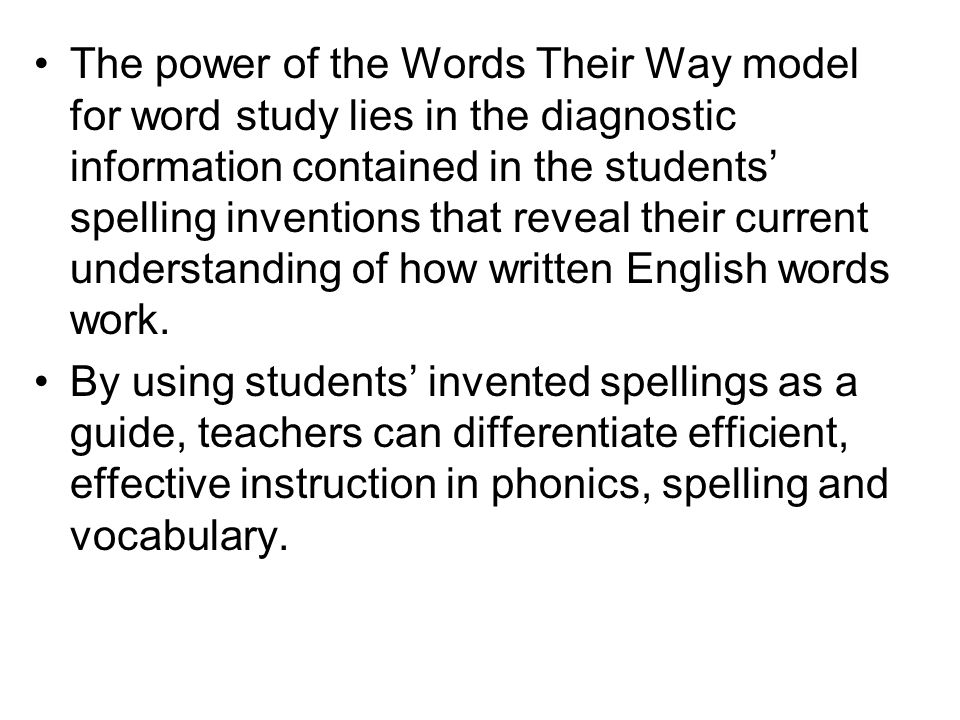 Words Their Way - Phonics Flashcards | Quizlet