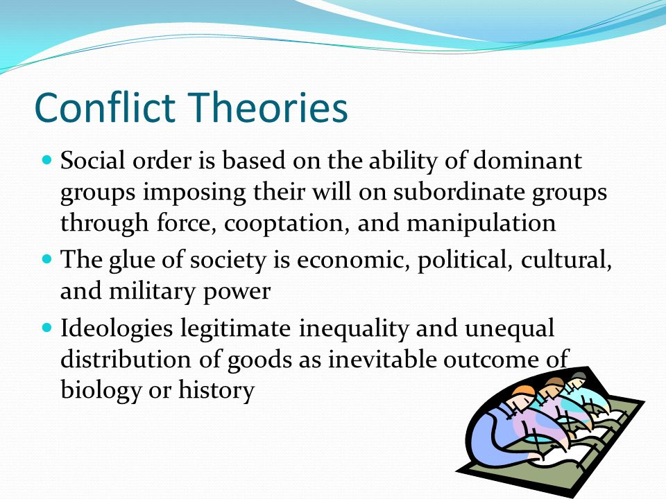 conflict and social order theory essay Functionalism exaggerates the extent of value consensus and social order – parsons social theory by the functionalist perspective – class notes for.