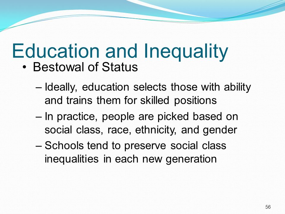 race and social inequality in education Read this social issues essay and over 88,000 other research documents race and social inequality in education major social institutions affect society, humanity, and prosperity in different ways education is a social institution that affects an individualвђ™s.
