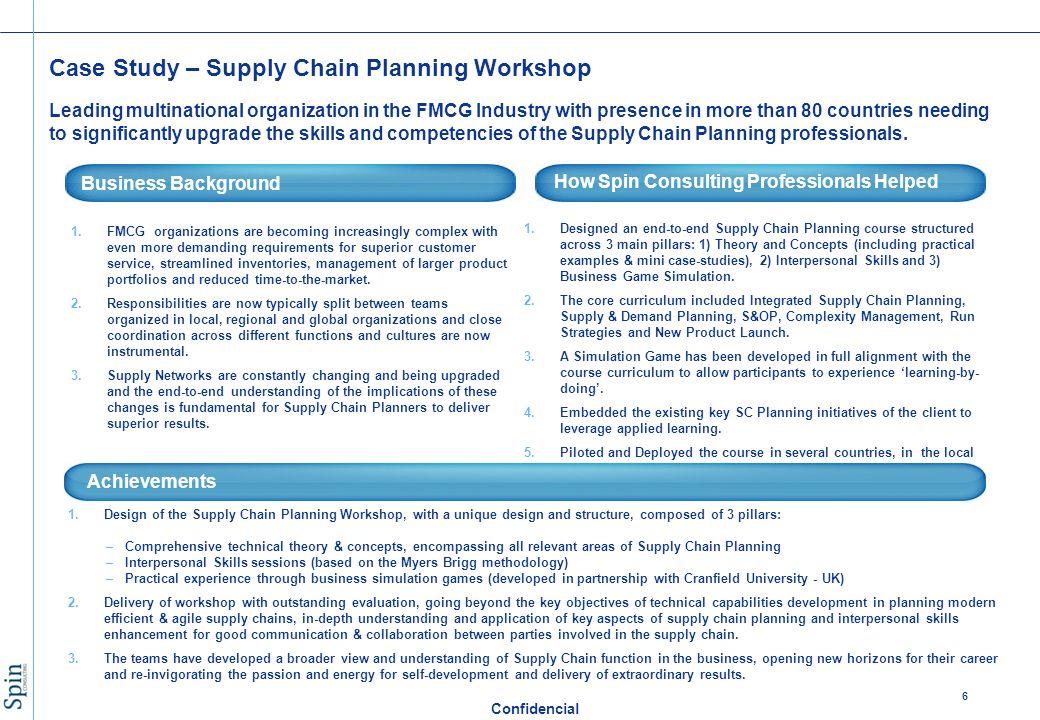 case study on planning