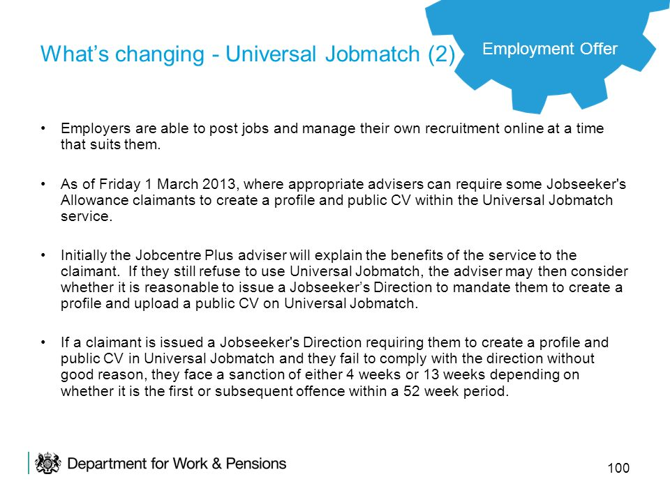 What's changing - Universal Jobmatch (2)