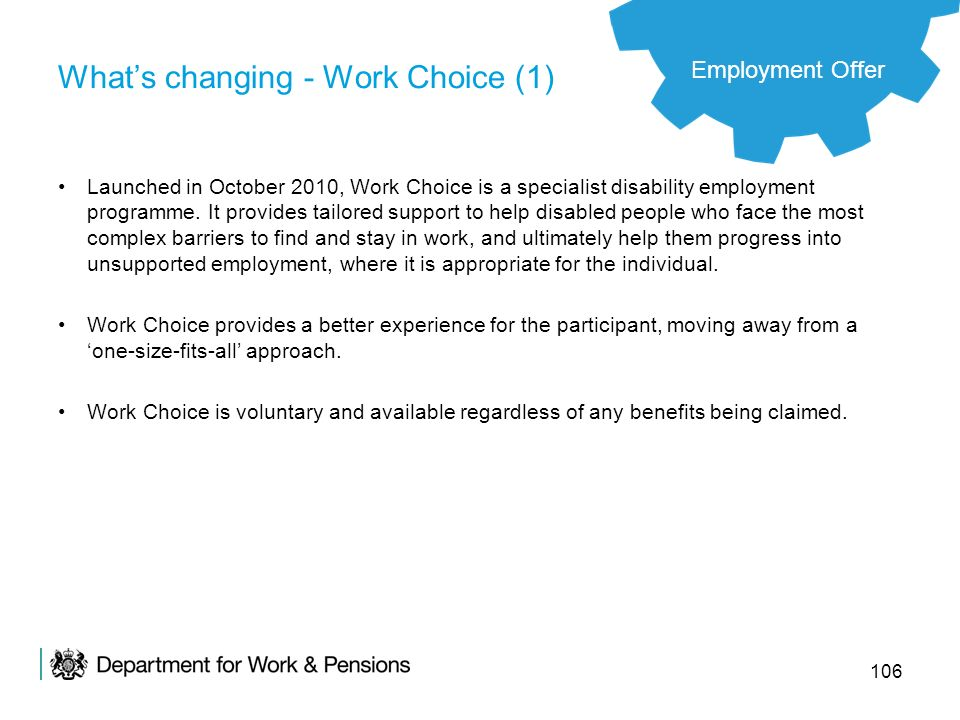 What's changing - Work Choice (1)