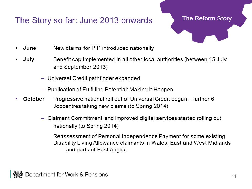 The Story so far: June 2013 onwards