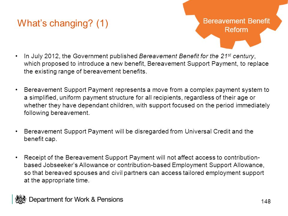 Bereavement Benefit Reform