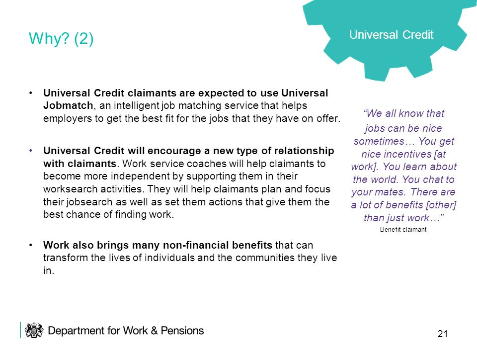 Why (2) Universal Credit