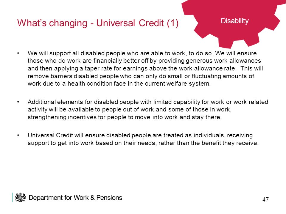What's changing - Universal Credit (1)